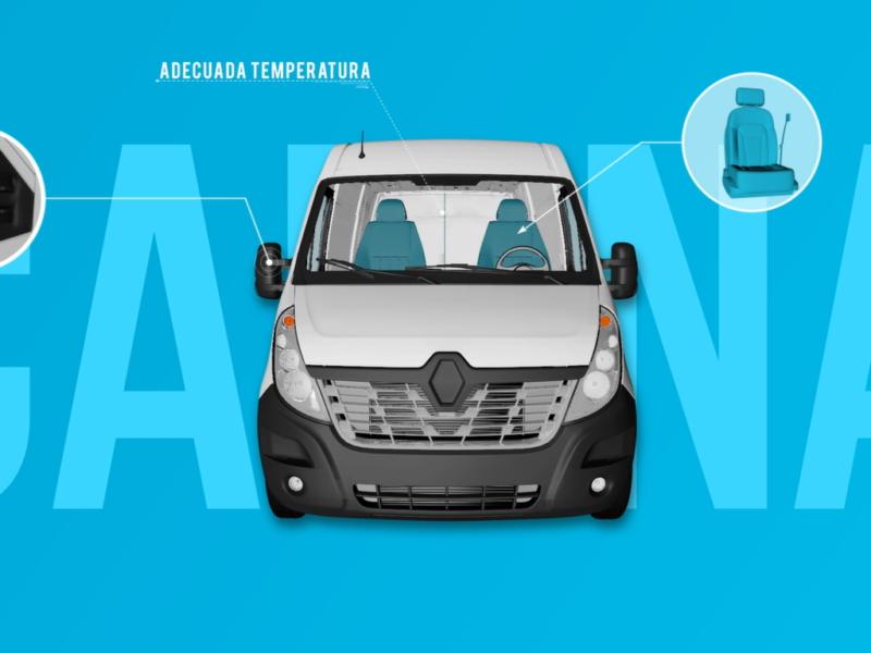 Vídeo Infográfico prevención accidentes furgonetas – IBERMUTUA